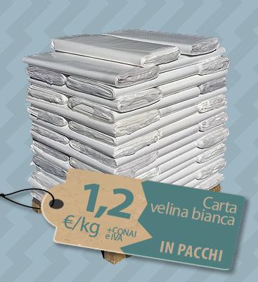 Bancale carta velina bianca