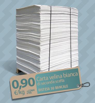 Bancale carta velina bianca di seconda scelta